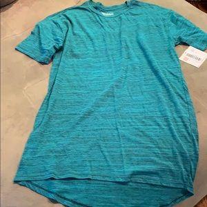 Men's Lularoe long Tshirt in teal and black